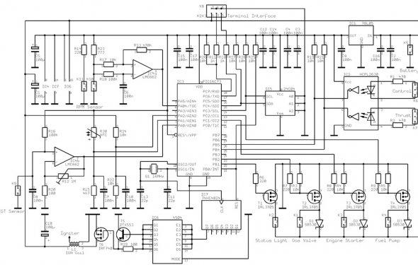 схема управлением двигателем