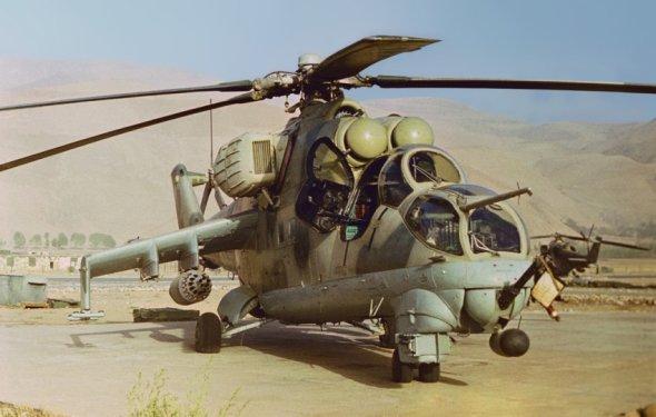 Вертолёты МИ-24 в Афганистане