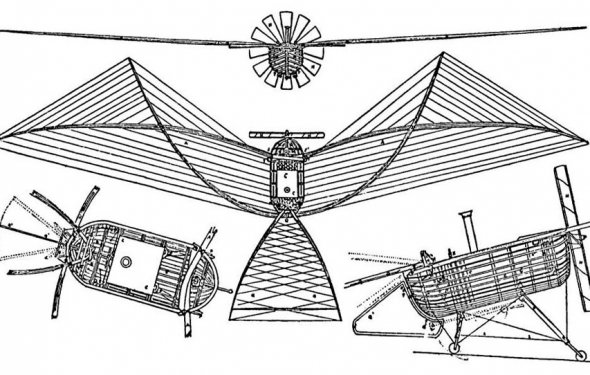 1857 Du Temple Airplane